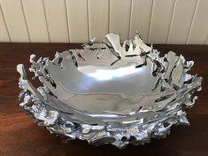 Cast Aluminium Fruit Bowl  Functional Art Cast Metal Foundry Recycled Aluminium Aluminum