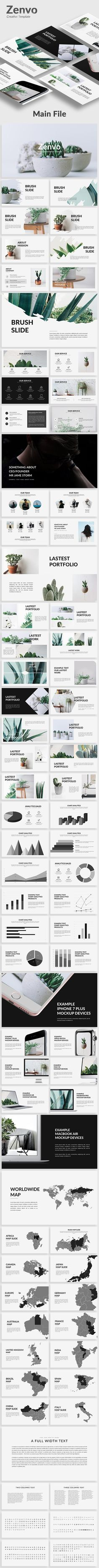 Zenvo - Google Slide Template - #Google Slides #Presentation #Templates Download here:  https://graphicriver.net/item/zenvo-google-slide-template/19533994?ref=alena994