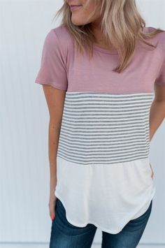 Perfect colors!  Perfect top for Spring.