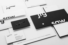 jigsaw brand - nice use of black and white and splicing of type.