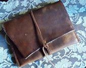 Custom & Personalized Handmade Leather Book Cover. $125.00, via Etsy.