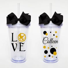 Love Hunger Games  Acrylic Tumbler Personalized by SweetSipsters