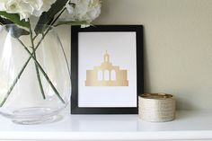 Newport Beach Temple Art//Printable//Gold on by LetThemBeGold