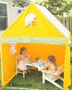 PVC Playhouse Tent  I NEEED to make this!