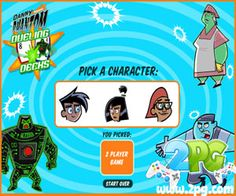 Danny Phantom: Dueling Decks game review ~ Danny Phantom is here to test your card battling skills by challenging you on the Dueling Decks match! Pick your player and try to win in this amazing card war game.