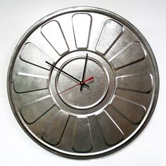 Recycled Film Reel Canister Wall Clock  Movie Reel by StarlingInk, $44.99