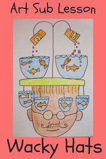Wacky Hats | Teaching | Art sub lessons, Easy art lessons