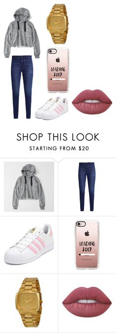 """""""Untitled #23"""" by brokenangel-eva on Polyvore featuring Abercrombie & Fitch, adidas, Casetify, Nixon and Lime Crime"""