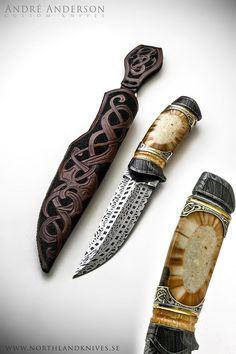 André Andersson Custom Damascus Knives, Daggers, Swords and Artknives from Sweden
