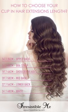 Feel beautiful at an affordable price with Irresistible Me 100% human Remy clip-in hair extensions. Choose your color, length and weight from various options. Can be cut, colored, curled and styled so you get  as many before and after transformations as you want. Sign up and get 20% your first order and other exclusive discounts!