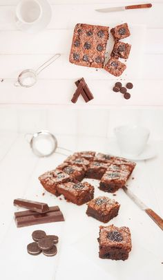 Brownie de chocolate y galletas Oreo / http://www.elobradordejavi.com/