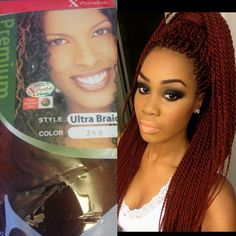 Summer styling <3 This is X-Pression hair color #350. The one with the green cover.