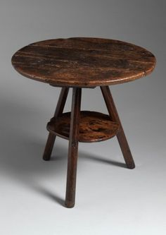Sculptural Primitive Tavern Cricket Table  (Sold by Robert Young Antiques) #FolkArt