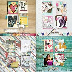 It's #ScrapliftSunday!! Top left is the original layout from @maryannmaldonado. Play along in our FB group or tag us here #paperissues