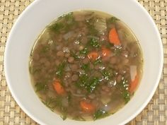 A simple lentil soup recipe with just a few ingredients: http://www.tastygalaxy.com/cook/lentil-soup-recipe/
