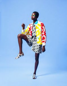 EDITORIAL: Hand painted clothing by Dane Johnson featuring Achok Majak - Akatasia | Inspired By All Things African :: African Inspirations :: African Diaspora