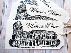 Italian Wedding Favor Tags When in Rome by PapergirlStudios