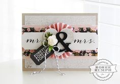 Wedding card by Roree Rumph for Stamp & Scrapbook Expo - Latest & Greatest Card Making featuring Echo Park Paper
