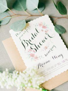 Bridal shower invites: http://www.stylemepretty.com/little-black-book-blog/2015/03/23/whimsical-garden-inspired-bridal-shower/ | Photography: Honey Honey - http://www.hoooney.com/