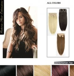 20 inch (50cm) long DOUBLE WEFTED Clip In Human Hair Extensions 150g.,10 Pieces, 100% Human Hair !!!24HOURS SALE!!!