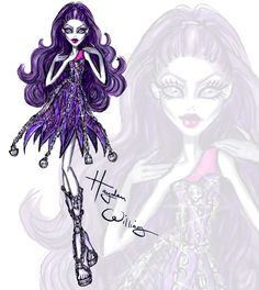 Check out my freaky fabulous collab with Monster High. I created killer illustrations of the ghouls from their new movie 'Haunted'. Drop Dead Gore-geous!-#haydenwilliamsillustrations