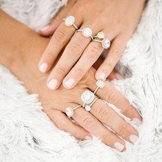 Engagement Rings |  #weddinginspo #bride #bridal #isaidyes #engaged #instadaily #instawedding #bridesmaiddress #bride Wedding Ring Pictures, Cool Wedding Rings, Wedding Rings For Women, Wedding Bands, Halo Rings, Promise Rings, Perfect Engagement Ring, Engagement Rings, James Allen Rings