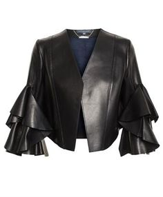 ALEXANDER MCQUEEN - Cropped Leather Jacket