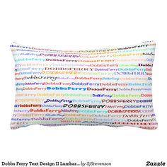 Dobbs Ferry Text Design II Lumbar Pillow