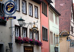 Hanging Signs, Rothenburg Street by Bachspics