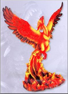 Phoenix from flames.