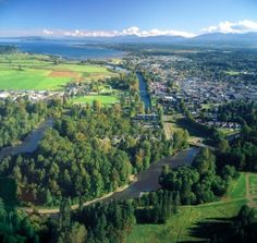 Aerial view of Courtenay, BC