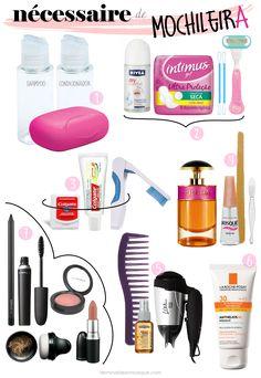 Necessaire de mochileira Travel Checklist, Travel Tips, Travelling Tips, Traveling, School Survival Kits, Best Travel Accessories, Road Trip Essentials, Eurotrip, How To Make Hair