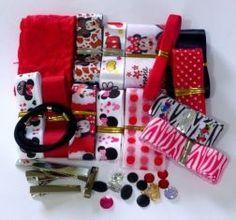 Kit de fitas para laços Minnie Vermelha 7354