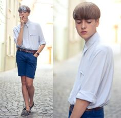 Giorgio Armani Watch, Zara Shorts, Goertz Sailor Shoes, Attic Shirt, Vogue Cigarette