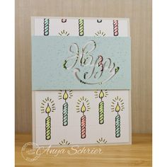 Serendipity Stamps Happy Die and Candle stamp ($1 Cling Sale!)
