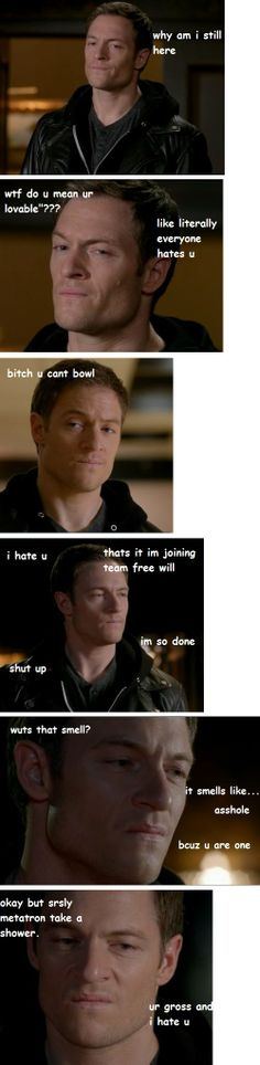 """""""Team """"F*** Metatron"""", meet our newest member: Gadreel."""" 