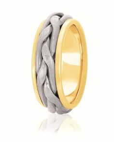 Show off your individuality with these hand crafted works of art.  Available for both men and women in your choice of width in a variety of metals including 14K & 18K white, yellow, rose and two tone Gold, as well as Platinum and Palladium. Each of these wedding rings are hand fabricated by a master jewelry artisan to create your masterpiece of love and commitment.