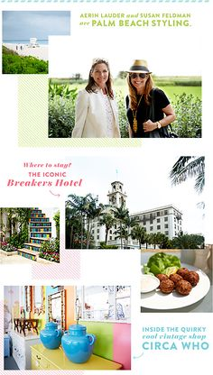Aerin Lauder tells us all the best places to eat, stay, and shop in this classic Florida town: https://www.onekingslane.com/live-love-home/palm-beach-travel-guide/