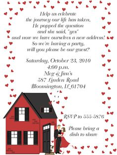 7 best house warming ceremony images on pinterest house warming housewarmingengagement party invitation m4hsunfo