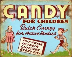 retro candy of the 50s | CANDY Store Display SIGN Vintage Retro 50s 40s Plaque for sale | We ...