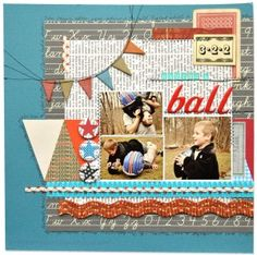Having a Ball 12×12 Layout by Amy Heller    little black dress kit club scrapbook 12x12 layout