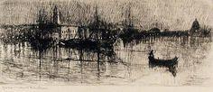 Rainy Night in Venice. Otto Henry Bacher.