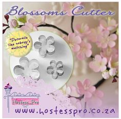 Blossom Flower Cutters  Shop from the comfort of your own home Shop online www.hostesspro.co.za  Visit our website to view all our exciting products  #cakedecorating #cake #fondant #hostessprosugarcraft #sugarcraft Like us on facebook https://www.facebook.com/hostesspro.co.za/