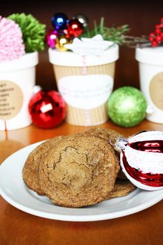 Chewy Gingerbread Cookies with Double Chocolate Chunks