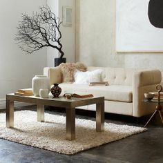 Parsons Rectangular Coffee Table - Wrapped Metal | west elm