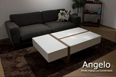 【楽天市場】ホワイトハイグロス仕上げ 収納付きセンターテーブル / Angelo:モーム/ソファ・テーブル・ベッド