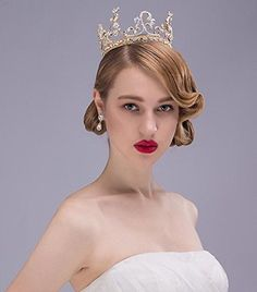 Baroque Suit Luxury Crystal Diamond Bride Bridal Wedding Accessory Hair Head Band Wear Rhinestone Jewelry Headdress Headband Tiara Crown *** You can get additional details at the image link.