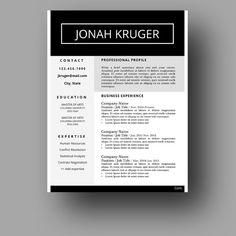 Unique EyeCatching Resume Template Professional And Creative