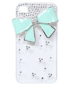 Bling Epoxy Bow Phone Case - Tech Accessories