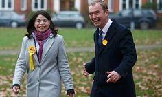Sarah Olney and the Lib Dem leader, Tim Farron